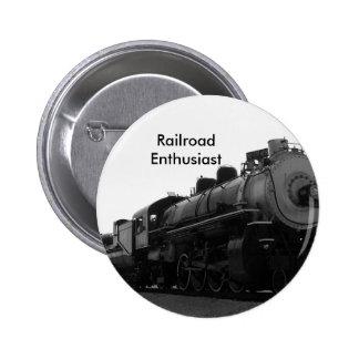 Entusiasta del ferrocarril pin