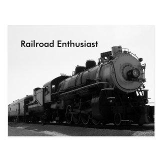 Entusiasta del ferrocarril postales