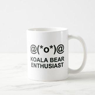 Entusiasta del oso de koala taza básica blanca