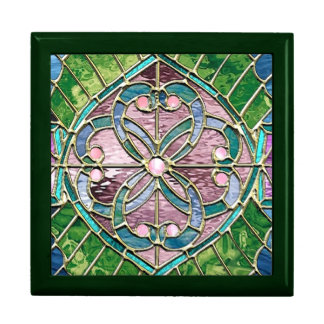 Entwinded Hearts Stained Glass Look Gift Bo Gift Box