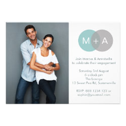 Entwined Circles Engagement Party Photo Invitation