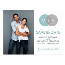 Entwined Circles Modern Save the Date Postcard