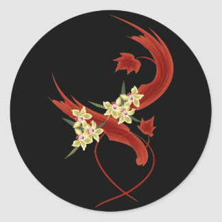 Entwined Classic Round Sticker