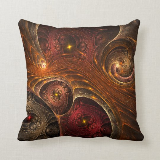 Entwined Dimensions Throw Pillow