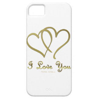 Entwined Gold Hearts i Love You iPhone SE/5/5s Case