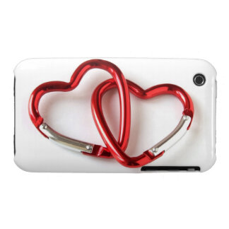 Entwined heart carabiners Case-Mate iPhone 3 case