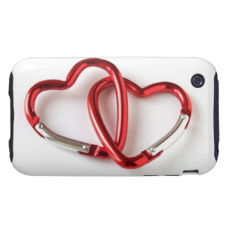 Entwined heart carabiners tough iPhone 3 cases