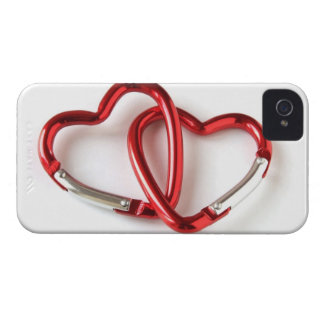 Entwined heart carabiners iPhone 4 cover