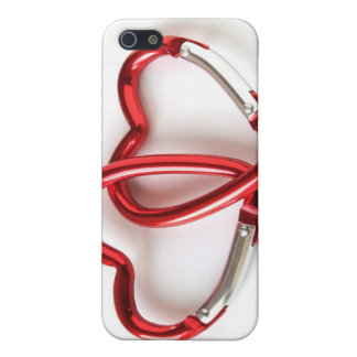 Entwined heart carabiners iPhone SE/5/5s case