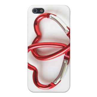 Entwined heart carabiners iPhone SE/5/5s cover