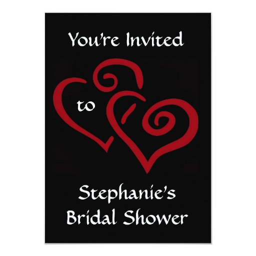 Entwined Hearts Bridal Shower Invitation