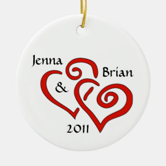 Entwined Hearts Couple's Ornament