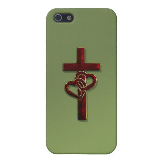 Entwined Hearts Cross Case For iPhone SE/5/5s
