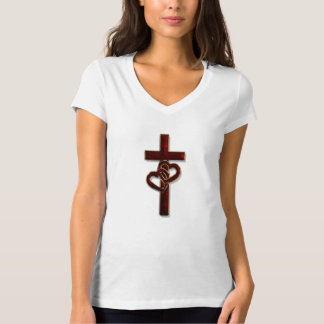 Entwined Hearts Cross T Shirt