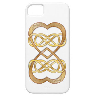 Entwined Hearts Double Infinity in Gold - iPhone iPhone SE/5/5s Case