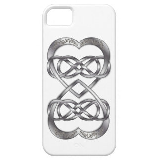Entwined Hearts Double Infinity in Silver - iPhone iPhone SE/5/5s Case