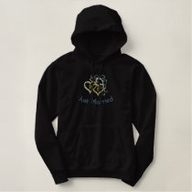 Entwined Hearts Embroidered on Jacket