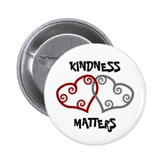 Entwined Hearts Kindness Matters 2 Inch Round Button