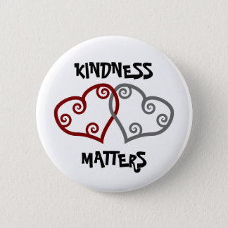 Entwined Hearts Kindness Matters Button