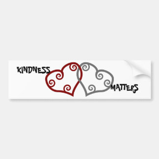 Entwined Hearts Kindness Matters Car Bumper Sticker