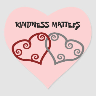 Entwined Hearts Kindness Matters Sticker