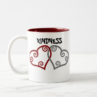 Entwined Hearts Kindness Matters Two-Tone Coffee Mug