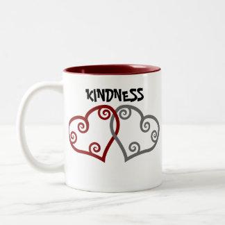 Entwined Hearts Kindness Matters Two-Tone Coffee Mug