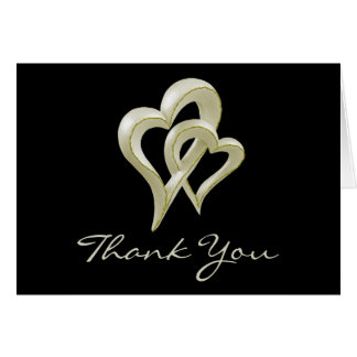 Entwined Hearts Thank You Card