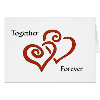 Entwined Hearts Together Forever Valentine's Card Greeting Card