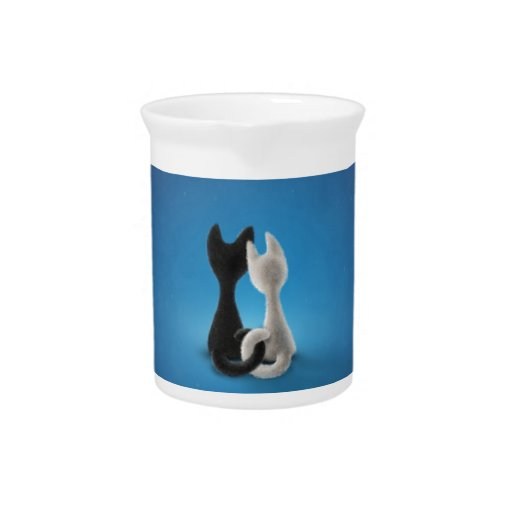 Entwined Kitties Pitcher