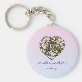 Entwined Love Heart Wedding (Bridesmaid) Keychain