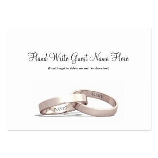 Entwined Rings Gold  NI - Place Cards Business Card Templates