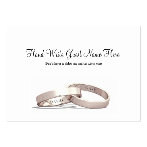 Entwined Rings Gold  NI - Place Cards Pack Of Chubby Business Cards