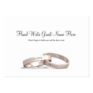 Entwined Rings Gold  - Place Cards Business Card Templates