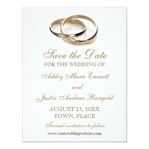 Entwined Rings Save the Date Invitation