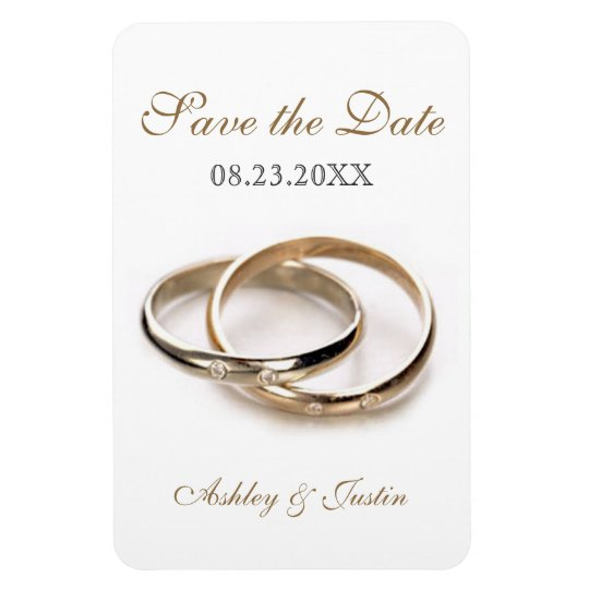 Entwined Rings Save the Date Premium Magnet