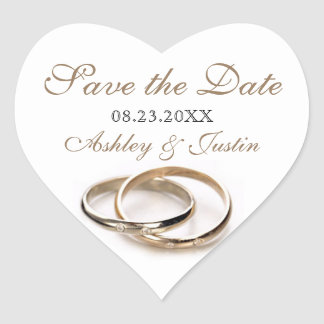 Entwined Rings Save the Date Sticker