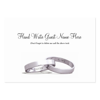 Entwined Rings Silver NI - Place Cards Business Card Templates