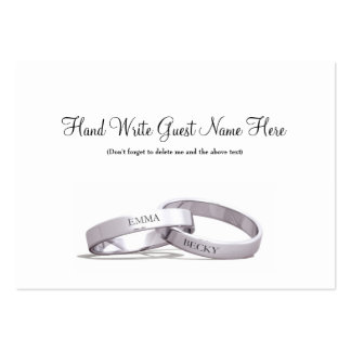 Entwined Rings Silver  - Place Cards Business Card Template