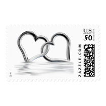 Entwined Silver Hearts Love stamps