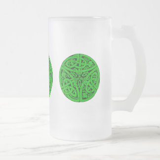 Entwined Snakes Frosted Glass Beer Mug