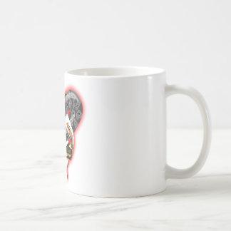 Entwined snakes mug