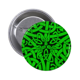 Entwined Snakes Pinback Button