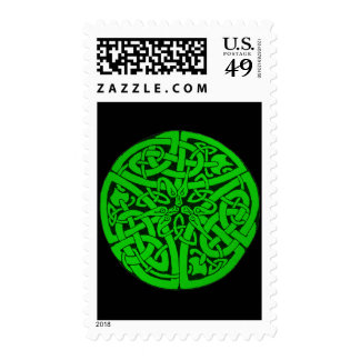 Entwined Snakes Postage Stamp