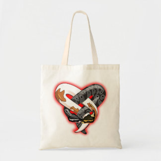 Entwined snakes tote bag