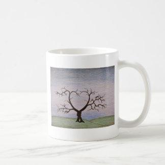 entwined tree print coffee mug
