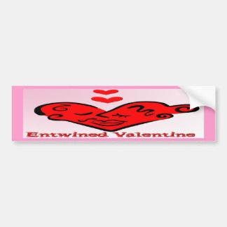 Entwined Valentine Car Bumper Sticker