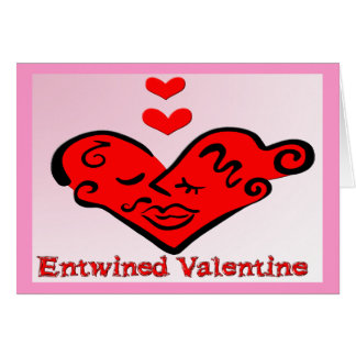 Entwined Valentine Greeting Card