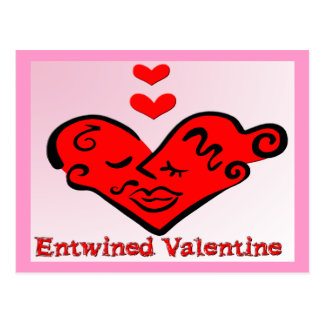 Entwined Valentine Postcard
