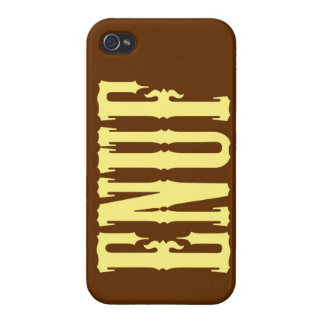 """""""ENUF"""" COVERS FOR iPhone 4"""